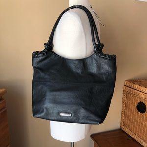 Banana Republic Leather Bag Black